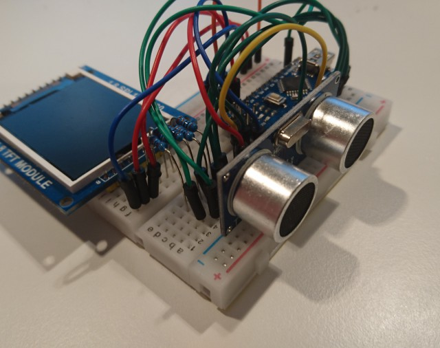 Arduino ultrasonic distance meter